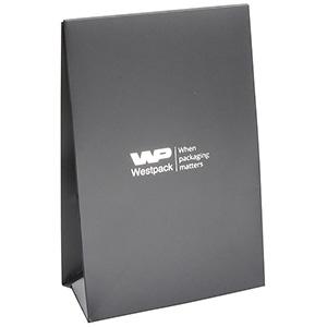 Mat gavepose til smykker, lille Mat grå karton, med hul til bånd 90 x 135 x 45 170 gsm