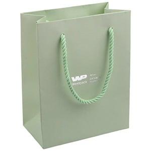 Sac en papier kraft avec poignées cordon, petit Papier kraft de couleur vert menthe  114 x 146 x 63 150 gsm