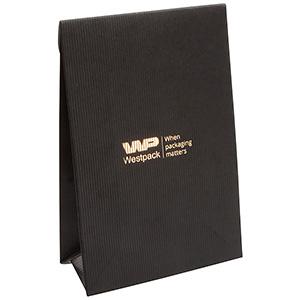 Matte cadeauzakje voor sieraden, klein Zwart geribbeld papier 90 x 135 x 45