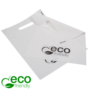 ECO plastikpose lille, 500 stk. ECO mat hvid 250 x 350 35 MY