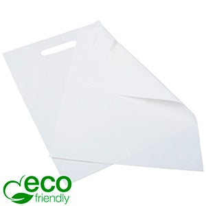Small Plastic Carrier Bags with ECO-friendly, 500x Matt White / 100% Recycled Plastic 250 x 350 50 MY