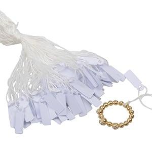 Cardboard string tags, small, 1000 pcs. White 19 x 6