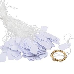 Cardboard string tags, large, 1000 pcs. White 21 x 11