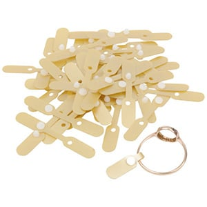 1000 Ring labels, plastic Gold 40 x 6