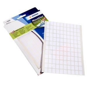Adhesive labels, small, 3.840 pcs. White 8 x 12
