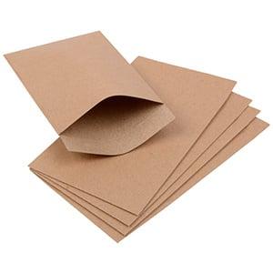 Papirspose lille, 250 stk. Natur 75 x 130 100 gsm