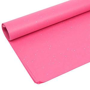 Zijdevloeipapier met glitters, 240 vellen Pink 760 x 505 17 gsm