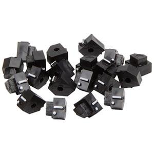 5 mm Prijsblokjes voor sieraden, 20 st. Eindblokje met .-