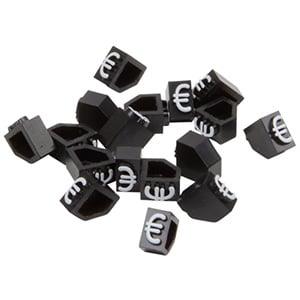 5 mm Prijsblokjes voor sieraden, 20 st. Startblokje met €
