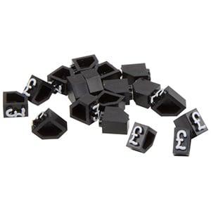 Chiffres prix pour bijoux 5 mm, 20 pcs. Cube de départ avec £