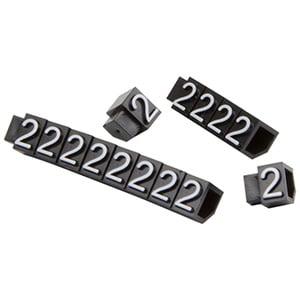 Chiffres prix pour bijoux 6 mm, 20 pcs. Nº 2