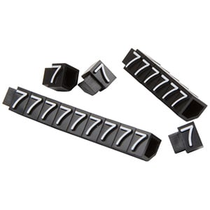 6 mm Prijsblokjes voor sieraden, 20 st. Nr. 7