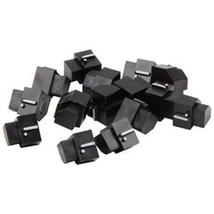 6 mm Prijsblokjes voor sieraden, 20 st. Eindblokje met .-