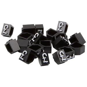 6 mm Prijsblokjes voor sieraden, 20 st. Startblokje met £