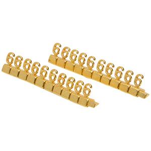 Chiffres prix de luxe pour bijoux 8 mm, 20 pcs Nº 6, Couleur or