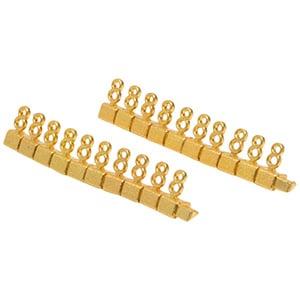 Chiffres prix de luxe pour bijoux 8 mm, 20 pcs Nº 8, Couleur or