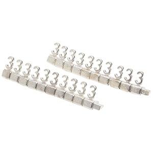 Chiffres prix de luxe pour bijoux 8 mm, 20 pcs Nº 3, Couleur argent
