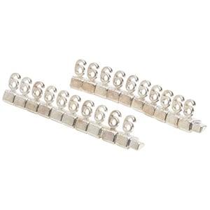 8 mm Luxe prijsblokjes voor sieraden, 20 st. Nr. 6, Zilverkleurig