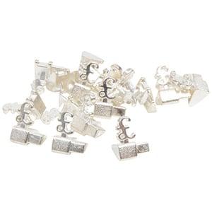 Chiffres prix de luxe pour bijoux 8 mm, 20 pcs Cube de départ avec £, Couleur argent
