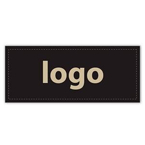 Etiquettes adhésives 019 - Rectangulaire Noir 38 x 16