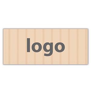 Etiquettes adhésives 019 - Rectangulaire Papier havane vergé mat 38 x 16