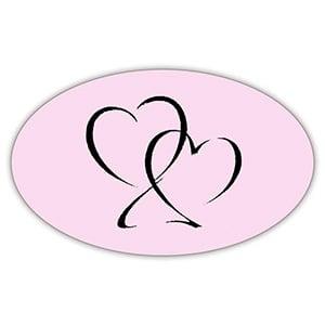 Etykietka z serduszkiem Kolor Różowy 39 x 24