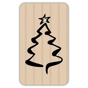 Etiquette adhésives avec un Sapin de Noël Papier havane vergé mat 32 x 19