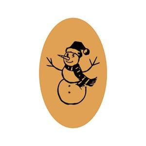Etiquettes adhésives avec un bonhomme de neige Doré 39 x 24