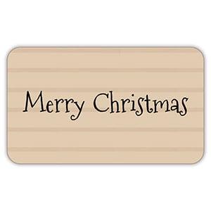 Voorgedrukt etiket Merry Christmas, rechthoek Mat naturel etiket met bedrukking 32 x 19