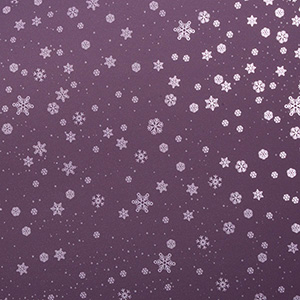 Wrapping Paper nº 3606 for Christmas Matt Mauve Paper with Glossy Lilac Snow Flakes  20 cm - 100 m - 80 g