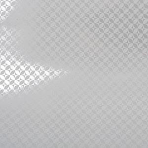 Papier cadeau nº 6363 Papier blanc / argent avec impression graphique   30 cm - 100 m