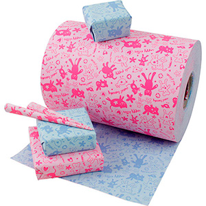 Wrapping Paper nº 8932 for children 8932 Reversible Paper with Pink/ Blue Print  20 cm - 160 m - 70 g