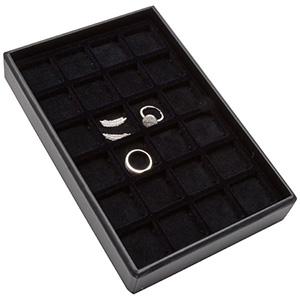 Mała kaseta 24 x uniwersalna Czarna Wkładka / czarna gąbka 156 x 235 x 32 Insert: 32x32x4 mm