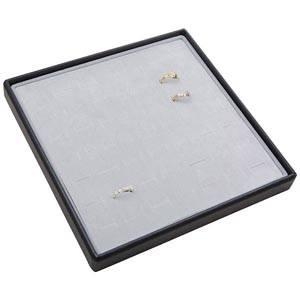 Medium tableau voor 49x ring Lichtgrijze Partitie / Lichtgrijze Foam Insert 235 x 235 x 28 Insert: 216x216x10 mm