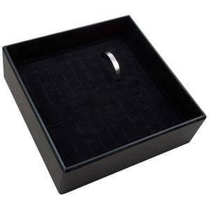 Moyen plateau présentation: 20x bracelet Plateau noir / Intérieur mousse noire 235 x 235 x 74 Insert: 216x216x20 mm