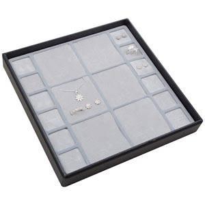 Medium tableau voor meerdere sets Lichtgrijze Partitie / Lichtgrijze Foam Insert 235 x 235 x 32 Insert: 67x70/31,9x31,9x10