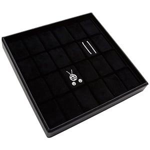 Moyen plateau présentation: 24x parures 3 pièces Plateau noir / Intérieur velours noir 235 x 235 x 32 Insert: 33,3x51,9 x 10 mm