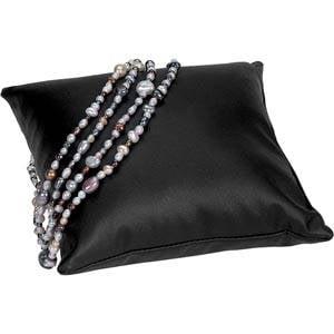 Decoratiekussen voor sieraden, groot Zwart Nappa 150 x 150