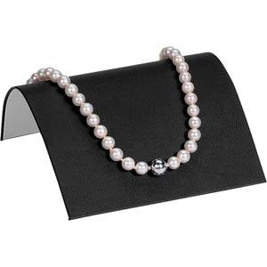 Présentoir à bijoux pour collier, petit Gainé similicuir noir 110 x 85