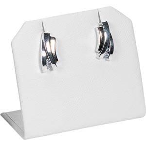 Display voor Oorsieraden, staand Wit Nappa 45 x 40