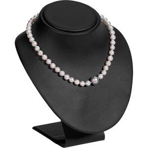 Présentoir à bijoux: Buste, taille L Gainé similicuir noir 160 x 185 x 160