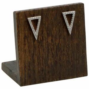 Display voor Oorstekers, klein Massief hout, donker gebeitst 45 x 45 x 30