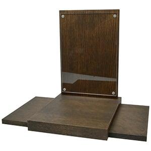 Presentatieblok voor merken, klein Massief hout, donker gebeitst 320 x 245 x 290