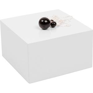 Bloc cubique de présentation pour bijoux, grand Bois laqué blanc 120 x 120 x 70