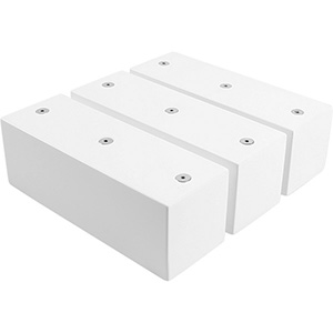 3x Multifunctioneel blok voor sieraden, groot Hoogglans gelakt hout, wit