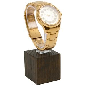 Présentoir montre - Plot de montre vertical, P.M. Bois teinté foncé 40 x 40 x 40