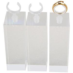 Présentoirs pour bague avec pince, grands Plexi transparent 30 x 30 x 90