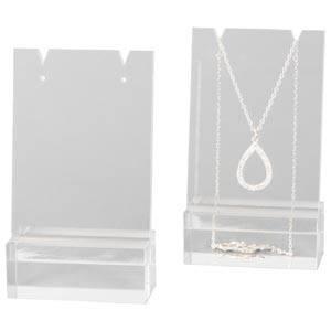 Présentoir à bijoux pour collier /chaîne, mini Plexi transparent 60 x 103 x 30