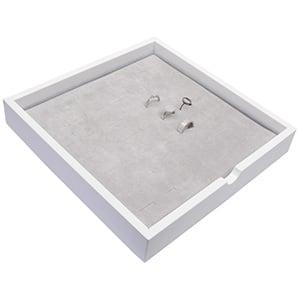 Tableau voor 49x ring Wit hoogglans hout/ Grijze foam kussens 241 x 241 x 38