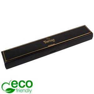 Torino ECO Jewellery Box for Bracelet Black recycled plastic/ Gold tooling/ Black Foam 215 x 35 x 21